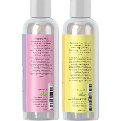 Sulfate Shampoo Conditioner for Dry Hair Natural + Breakage Thinning + - Vitamin Argan +