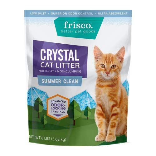 Frisco Crystal Summer Clean Scent Multi Cat Non-Clumping Cat Litter, 8-lb Bag