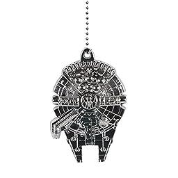 Star Wars Millennium Falcon Metal Fan Pull