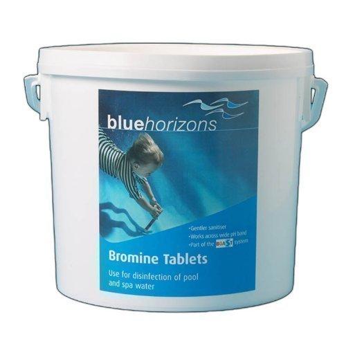 Bromine Tablets 5kg Hot Tub Tubs Pool + Free Dispenser Blue Horizons