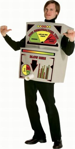 [Breathalyzer Costume Costume - One Size - Chest Size 42-48] (X Rated Holloween Costumes)