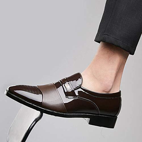 Stringate da Eleganti Pelle Scarpe Marrone Pelle Classiche Moderne Offerta di Scarpe SOMESUN Scarpe Morbide Pelle Eleganti Scarpe Traforate in Uomo Casual Lavoro in WHnqwB7P0