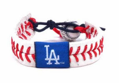 Gamewear MLB Leather Wrist Bands - Dodgers Classic -