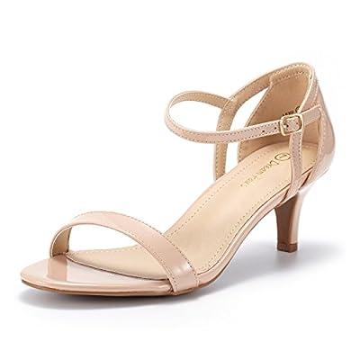 DREAM PAIRS Women's Lexii Fashion Stilettos Open Toe Pump Heeled Sandals
