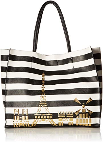 - Betsey Johnson Bets in The City Tote, stripe