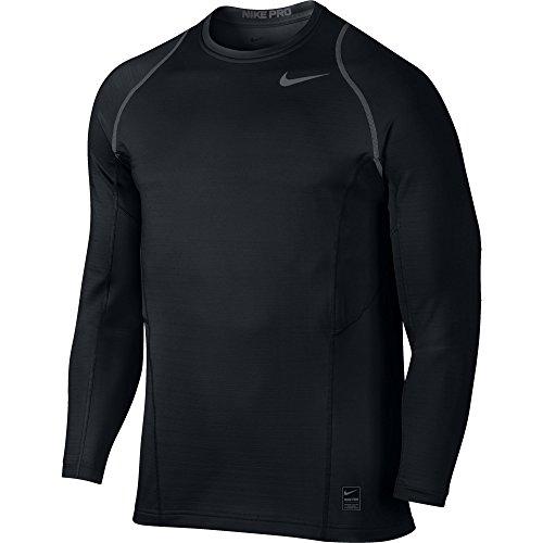 Men's Nike Pro Hyperwarm Top Black/Dark Grey Size Large
