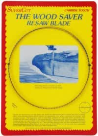 "SuperCut B131.5S1T3 WoodSaver Resaw Bandsaw Blades, 131-1/2"" Long - 1"" Width; 3 Tooth; 0.035"" Kerf"