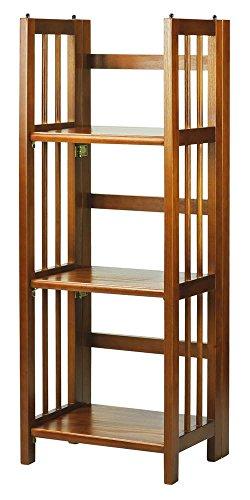 Mission Bookcase Folding - Casual Home 3-Shelf Folding Bookcase in Honey Oak Finish