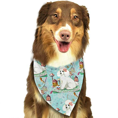 FRTSFLEE Dog Bandana White Poodle Cupcake Scarves Accessories Decoration for Pet Cats and -