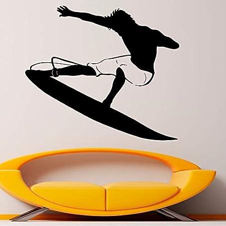 yaonuli Calcomanía de Pared de Vinilo extraíble para Surf acuático Sala de Estar decoración de la habitación de los niños decoración del hogar 63X57cm