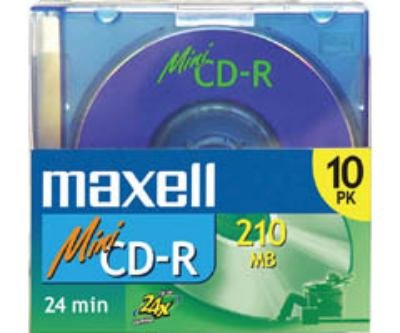 MAXELL 10-Pack of Mini CD-R Discs (Discontinued by Manufacturer) 623700