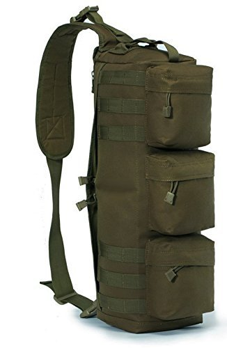 Ultimate Arms Gear OD Olive Drab Green Tactical Assault Grab and Go Bug Out Bag Molle Adjustable Ambidextrous Shoulder Strap Sling Multi-Functional Utility Pouch Compartment Sling Equipment Field Messenger Gym Hiking Camping Backpack Pack Holds Heavy Duty Gear Water Bladder and Survival Tools (Ultimate Gear Bag)