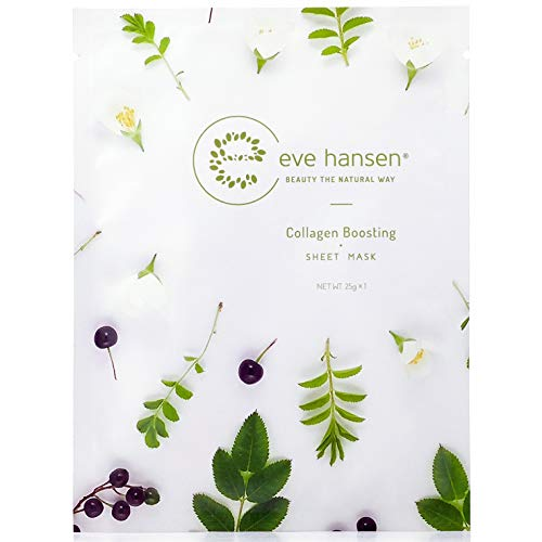 (Eve Hansen Collagen Sheet Mask Set | Cruelty Free, Natural Hydrating Face Mask for Wrinkles and Dark Spots | Single Facial Mask Sheet Face Masks)