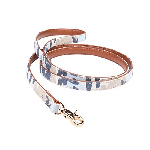 ZZmeet Dog Collar Dog Leash Camouflage Pet Triangle Towel Traction Rope Dog Collar Supplies Fashion Matching New Creative Dog Products,Blue,L ()