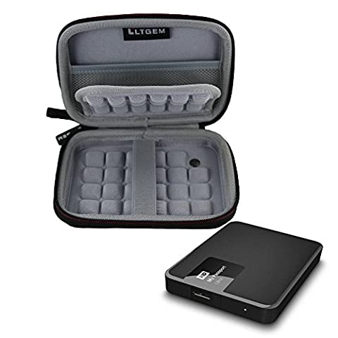 LTGEM Case for 2.5-Inch Toshiba,Seagate,Western Digital WD,Transcend Portable Hard Drive Fits USB (Wd My Passport 2 Tb)