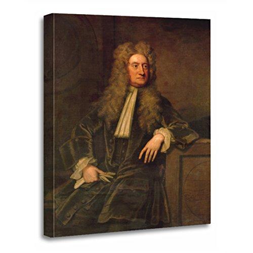TORASS Canvas Wall Art Print Godfrey Sir Isaac Newton Knellermale Portrait Science Oil Artwork for Home Decor 12