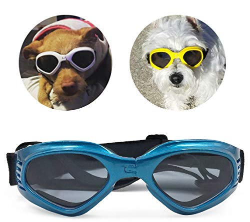 PetBoBo Pet Waterproof Windproof Anti-Fog Eye Protection Goggles, Stylish Pet Dog UV Goggles Sunglasses Waterproof Protection Sun Glasses for Dog Blue from PetBoBo