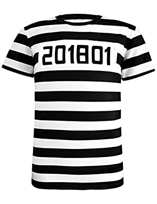 Funny World Men's Prisoner Halloween Costume T-Shirts