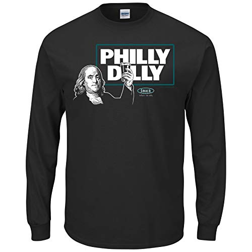 - Philadelphia Football Fans. Philly Dilly T-Shirt (Sm-5X) (Black Long Sleeve, Large)