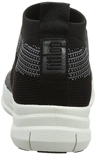 Hi Tennis Fitflop Multicolore nero top Carbone Ad Slip Donne on Uberknit Trainer Da Scarpa Alta RgSH4wqHx