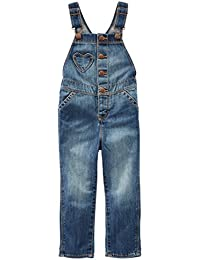 Baby Girls' Heart Pocket Denim Overalls