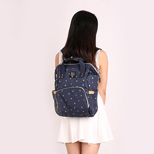 Care Travel Backpack Tote Capacity Multi Open Wide Nappy Design Baby Blue Function Bag Bag Large Backpack for Bags Swiftswan Nappy Diaper Tqwn58O5