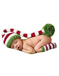 Baby Photography Props Photo Shoot Outfits Newborn Costume Christmas Hat Leggings