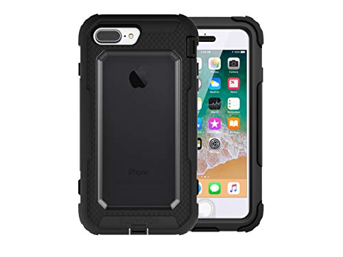 Griffin, iPhone 8 Plus Rugged Case, Survivor All-Terrain with Belt Clip, Impact Resistant, 10 ft Drop Protection, Black/Clear from Griffin Technology