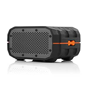 BRAVEN BRV-1 Portable Wireless Bluetooth Speaker [12 Hours][Waterproof] Built-In 1400 mAh Power Bank Charger - Black / Orange