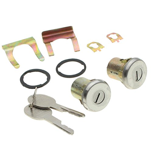 MagiDeal 2Pcs Lockcraft Door Lock Cylinder + 2 Keys Kit For Chevrolet Truck & SUV
