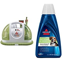 BISSELL Little Green ProHeat Compact Multi-Purpose Carpet Cleaner, 14259 - Corded and BISSELL 2X Pet Stain & Odor Portable Machine Formula, 32 ounces, 74R7 Bundle
