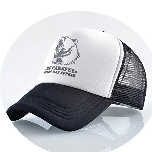 通気性のある グリッド スポーツ帽子 夏キャップ 男の子 キャップ,ブラック
