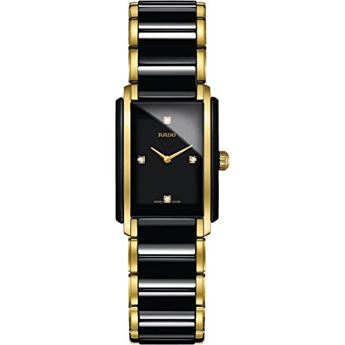Rado Integral Jubile Two-tone Black Ceramic and Gold Womens Watch - R20845712 (Integral Rado Jubile)