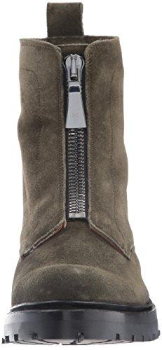 Frye Womens Julie Front Zip Combat Boot Foresta Morbida Pelle Scamosciata Oliata