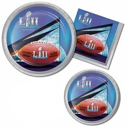 Super Bowl 52 LII 2018 NFL Football Party Supply Pack! Bundle Includes Paper Plates & Napkins for 8 Guests