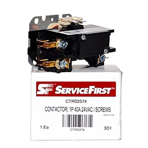 Trane / American Standard OEM Contactor - CTR02574 / CTR-2574 - 40 Amp / 1-Pole / 24V - 100 Ctr