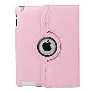HPT Map Pattern Style 360 Degree Rotating PU Leather Case & Stand for iPad 2/3/4 (Brown)