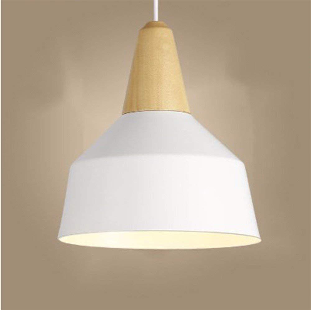 Kronleuchter, Handelier Restaurant Licht Nordic Massivholz-Aluminium-Stab Farbe Kleidung Holz Weiß 26  30cm