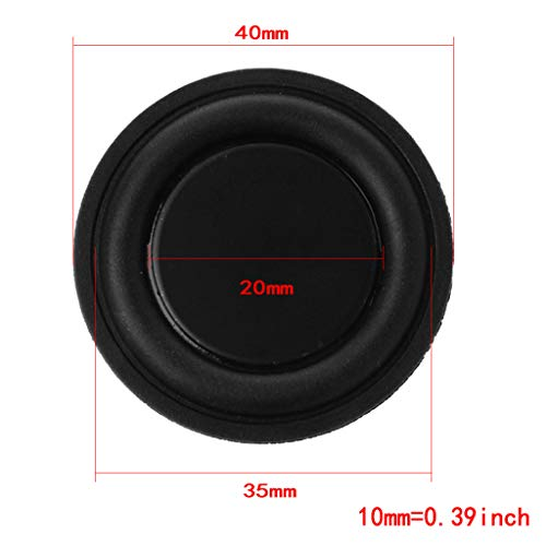 - Kofun 40mm Passive Radiator Subwoofer Speaker Vibration Membrane Bass Rubber Woofers