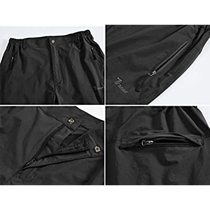YSENTO Women's Outdoor Quick Dry Hiking Trousers Lightweight Water Resistant Walking Climbing Pants With Zipper Pockets 5