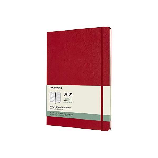 Colore Blu Zaffiro Copertina Morbida 144 Pagine Agenda Settimanale 12 Mesi Formato XL 19 x 25 cm Weekly Planner e Notebook Moleskine Agenda Settimanale 2021