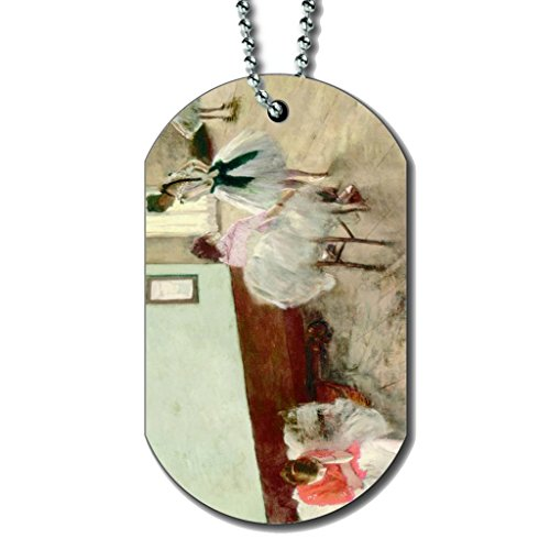 (Edgar Degas The Dance Lesson - Dog Tag Necklace)
