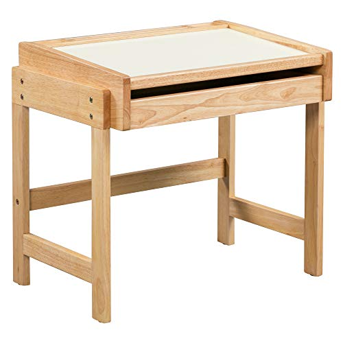 (ECR4Kids Doodle Dry-Erase Schoolhouse Desk - Dry-Erase Table Top with Pull-Out Storage Drawer for Kids, Natural Finish)