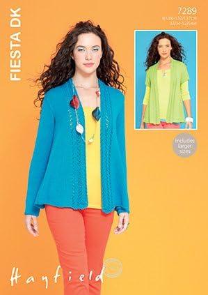 Hayfield Señoras chaquetas fiesta Tejer patrón 7289 DK Sirdar - 7289