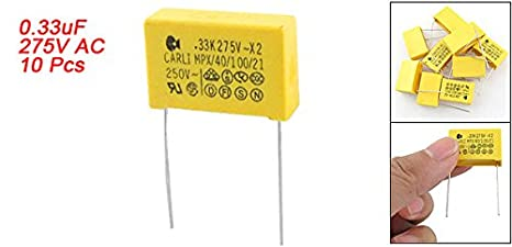 Uxcell 10pcs 0 33uf 330nf 250v Polypropylene Safety Capacitor X2 Amazon Ca Industrial Scientific