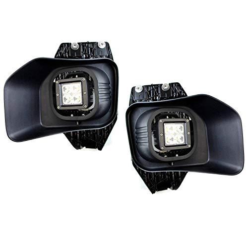 iJDMTOY LED Fog/Driving Lights Kit For 2011-2016 Ford F-250 F-350 F-450 Super Duty, Includes (2) 20W LED Pod Lights, Foglamp Location Mounting Brackets, Garnish Bezels & Wiring Harness