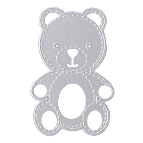 NNDA CO Bear Cutting Stencil Scrapbook