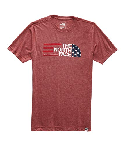 The North Face Men's Short Sleeve Americana Tri-Blend Tee, Cardinal Red Heather, Size - Tri Blend Cardinals