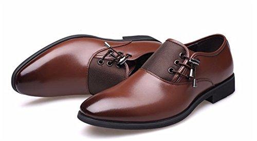 xie Grande taille printemps et en été des hommes d'affaires formelle porter des chaussures en cuir décontracté de la marée chaussures de marée pointu chaussures pour hommes 37-47 brown eVIGCpE5uo