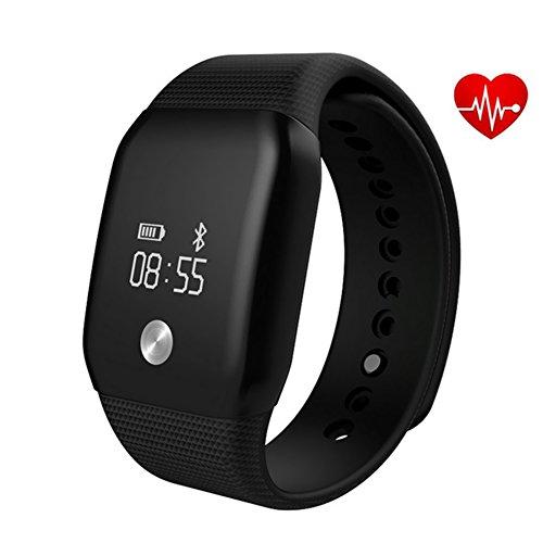 Aiguozer® A88 Bluetooth Smartwatch Schrittzähler Pulsuhren Aktivitätstracker wasserdicht Armbanduhren Damen Herren Herzfrequenzmonitor Sauerstoffsättigung Kalorienverbrauch Sport Fitness